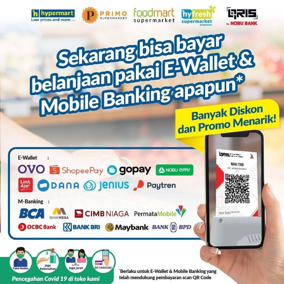 Promo diskon Katalog Promo Hypermart E wallet dan Bank Periode 22 - 25 Januari 2021