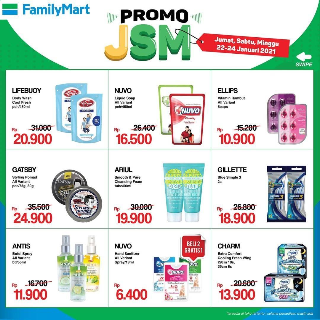 Promo diskon Katalog Promo FamilyMart JSM Periode 22 - 24 Januari 2021