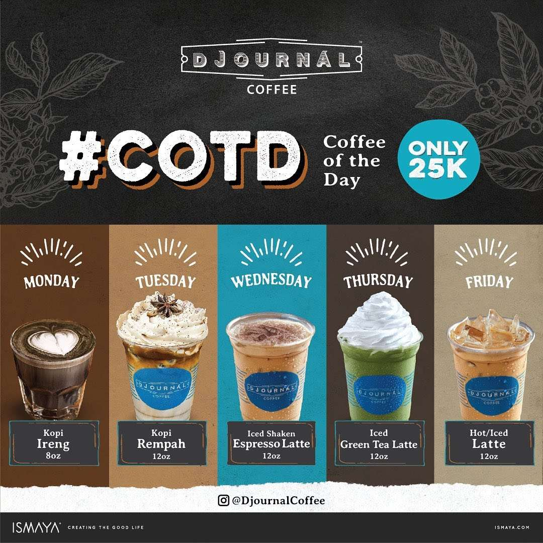 Diskon Djournal Coffee Promo Coffee Of The Day Only For Rp. 25.000