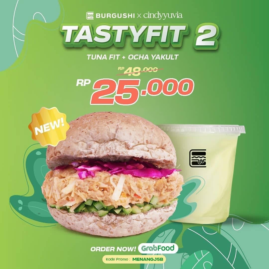 Promo diskon Burgushi Promo Tasty fit Series Harga Mulai Dari Rp. 19.000