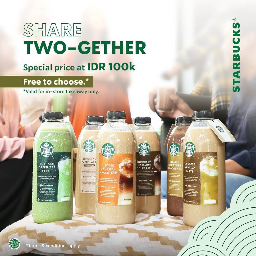 Diskon Starbucks Promo Share Twogether Special Price At Rp. 100.000