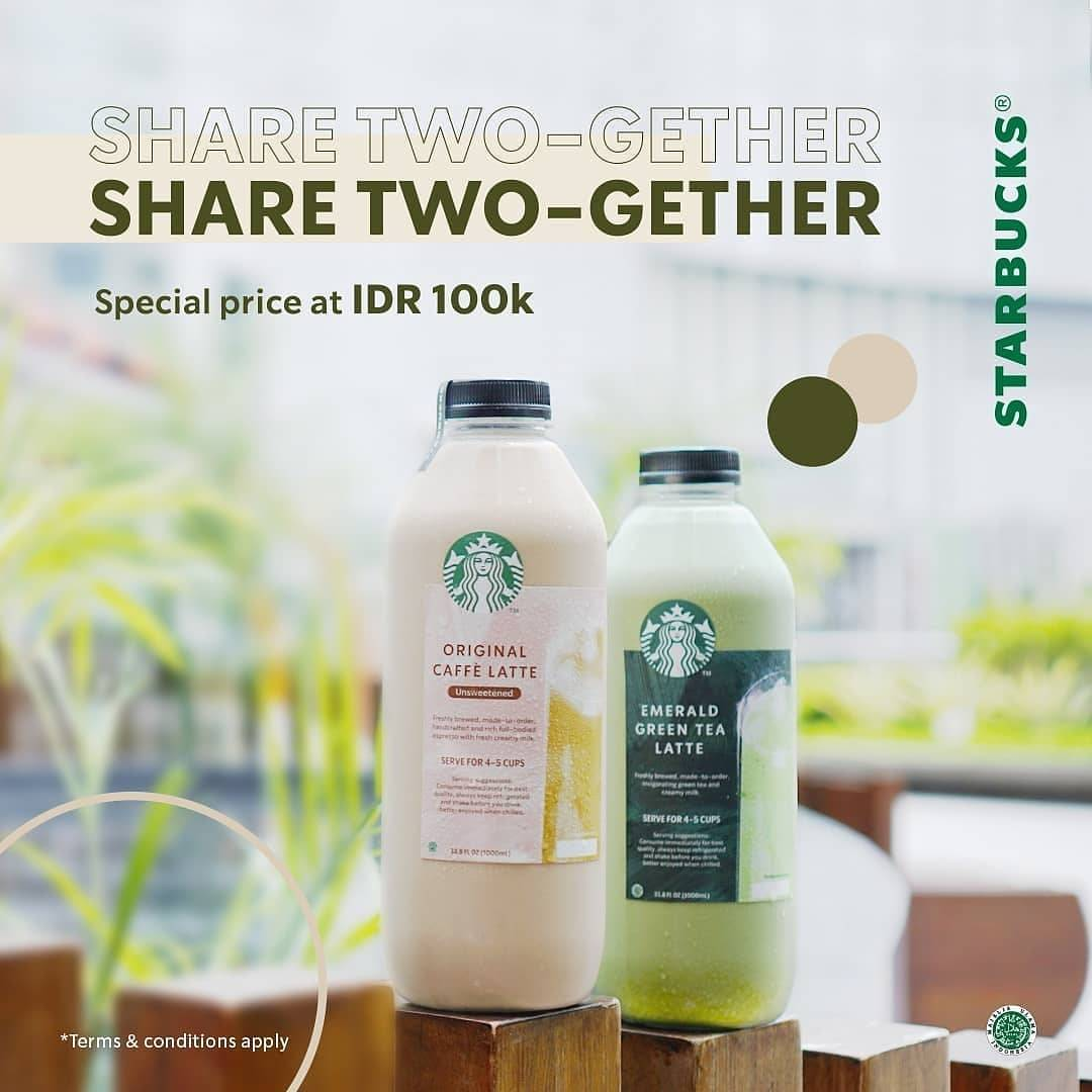Promo diskon Starbucks Promo Share Twogether Special Price At Rp. 100.000