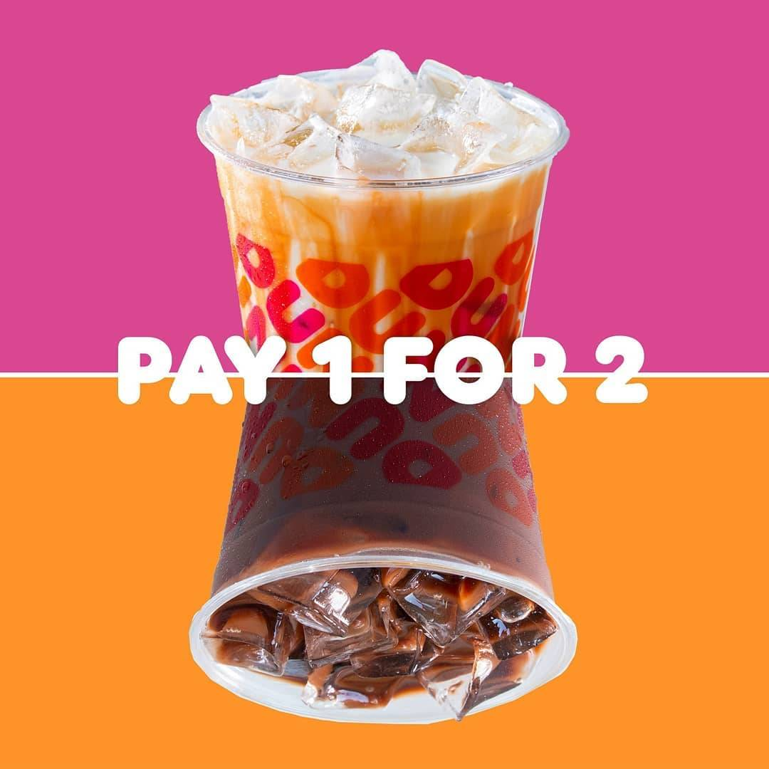 Diskon Dunkin Donuts Pay 1 Get 2 Any Beverages