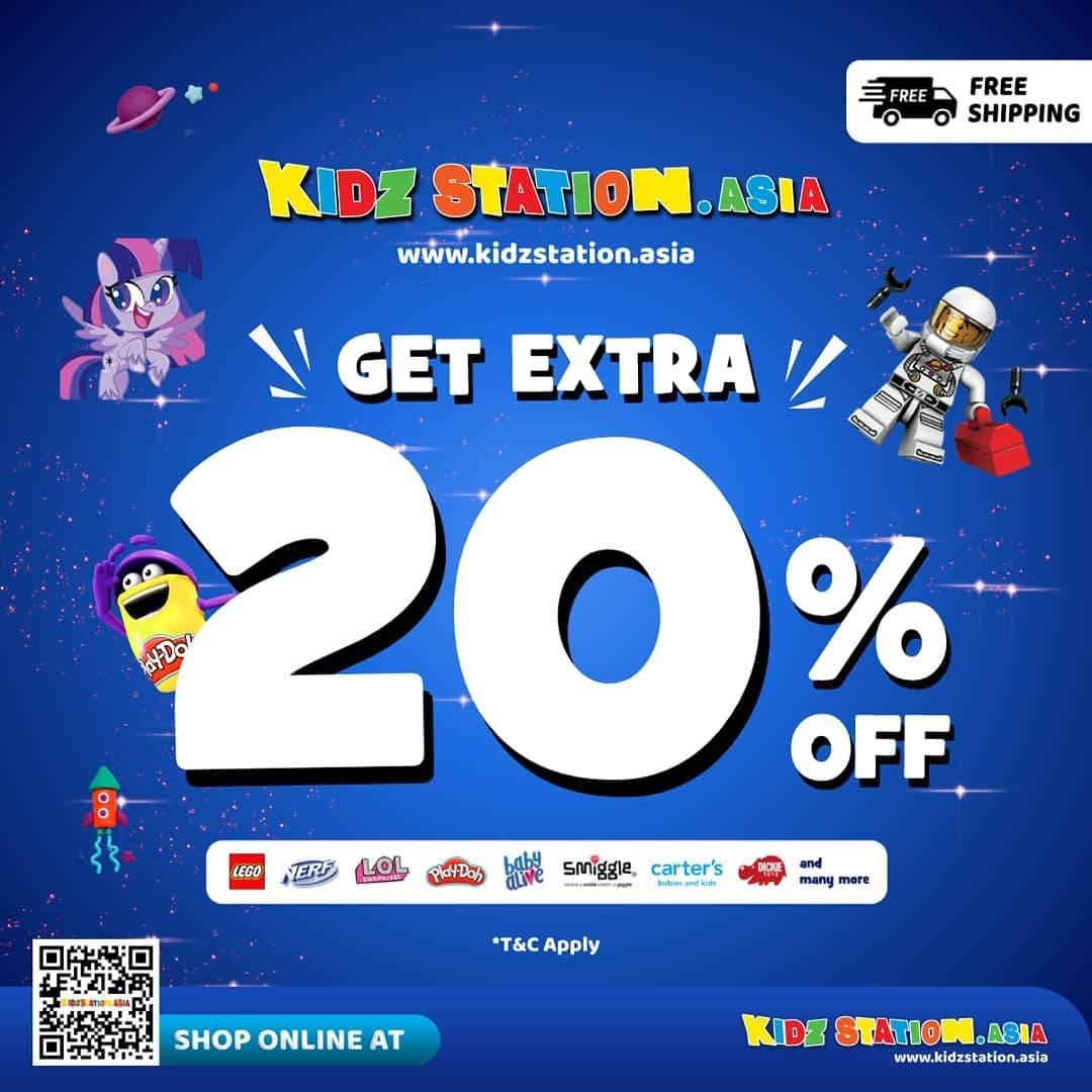 Diskon Kidz Station Get Extra Discount 20% Off