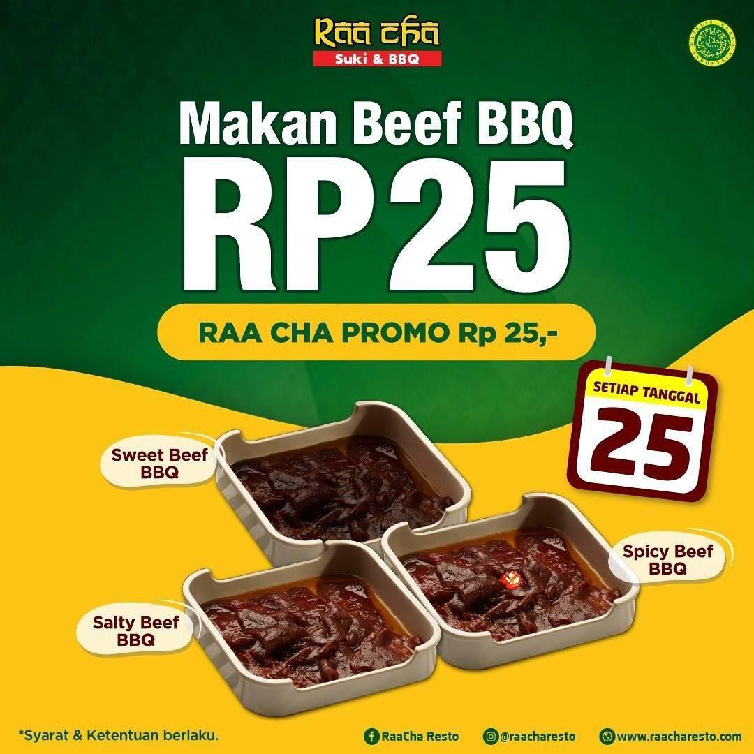 Diskon Raa Cha Suki Promo Makan Beef BBQ Rp. 25