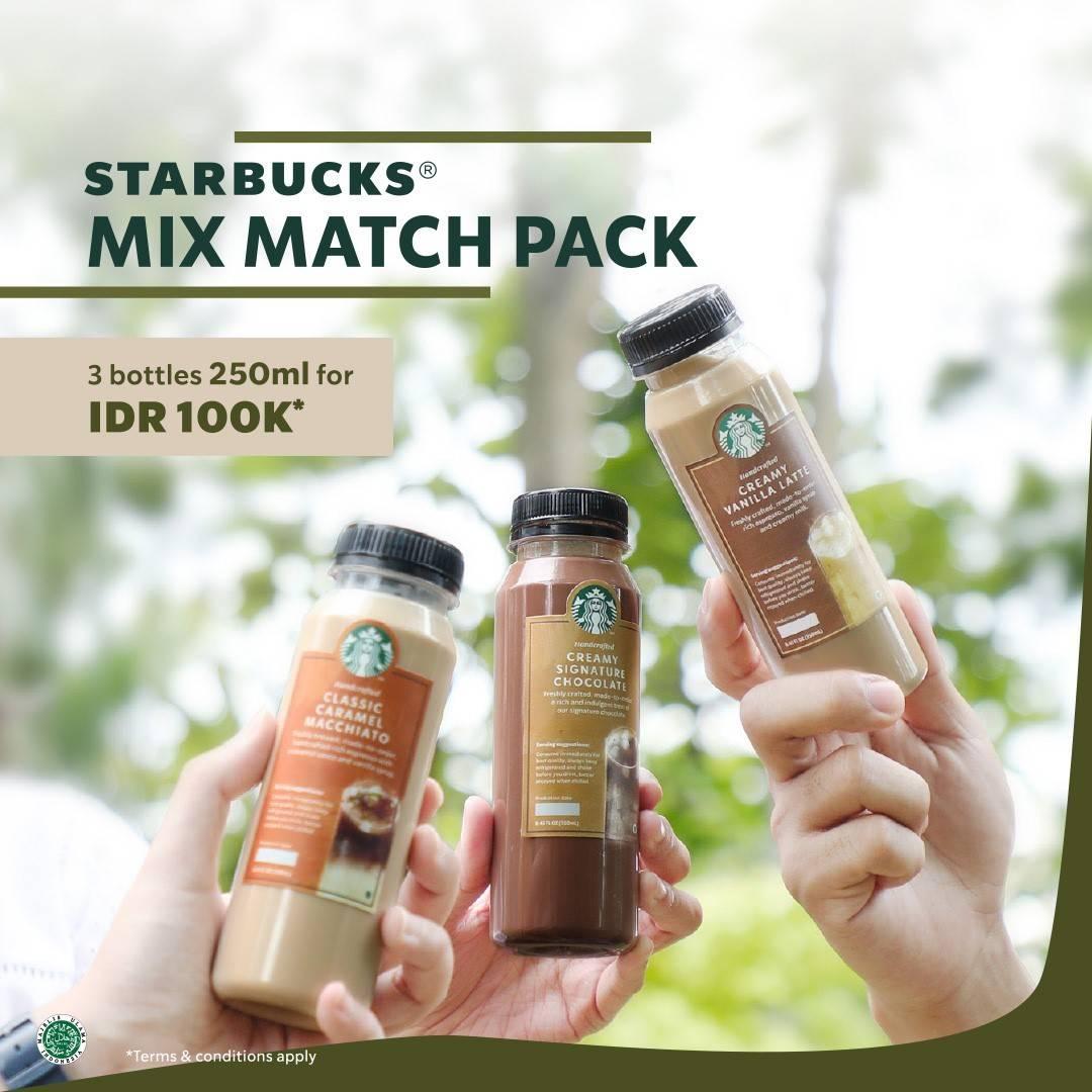 Diskon Starbucks Promo Mix Match Pack 3 Bottles 250ml For Rp. 100.000