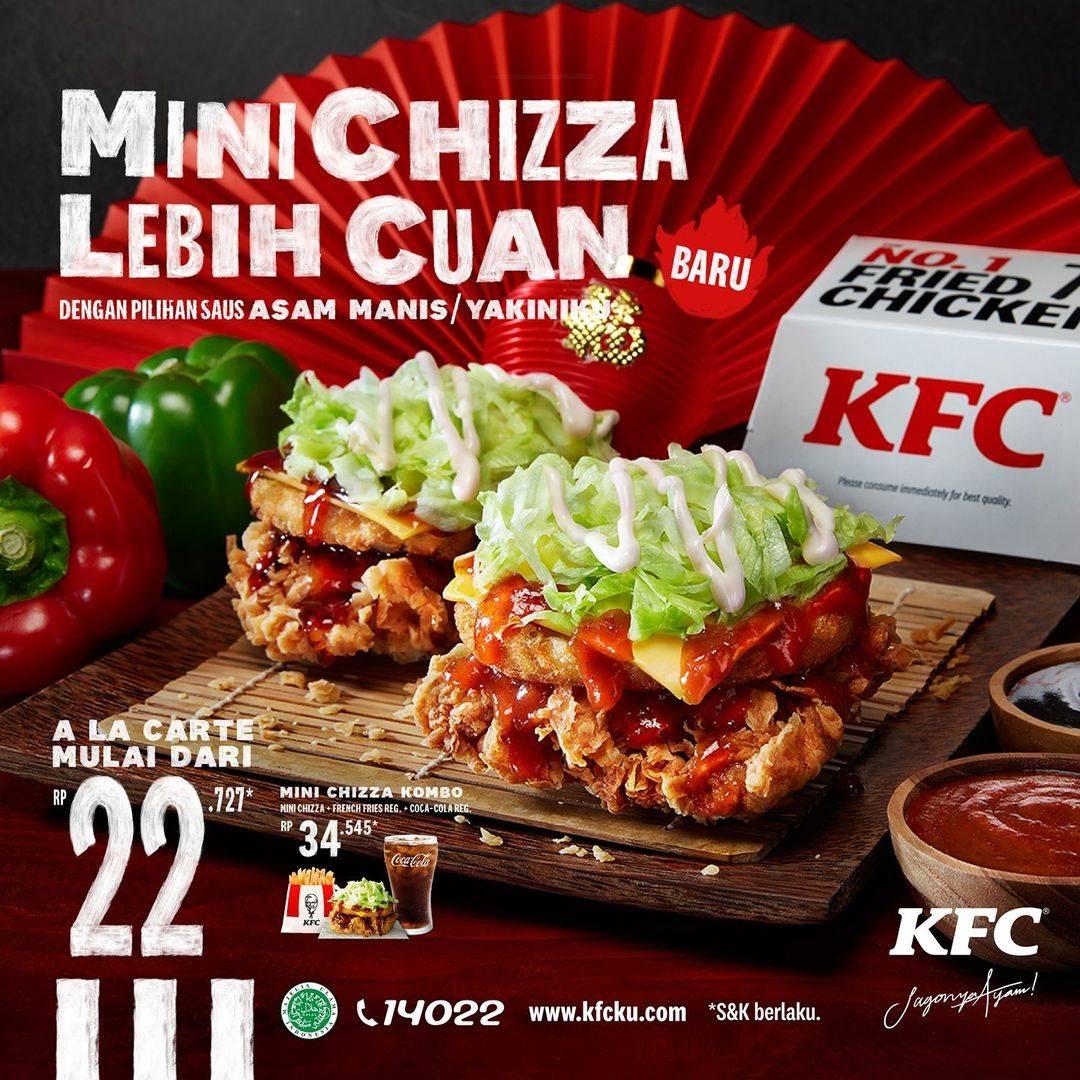 Diskon KFC Promo Mini Chizza Harga Mulai Dari Rp. 22.727