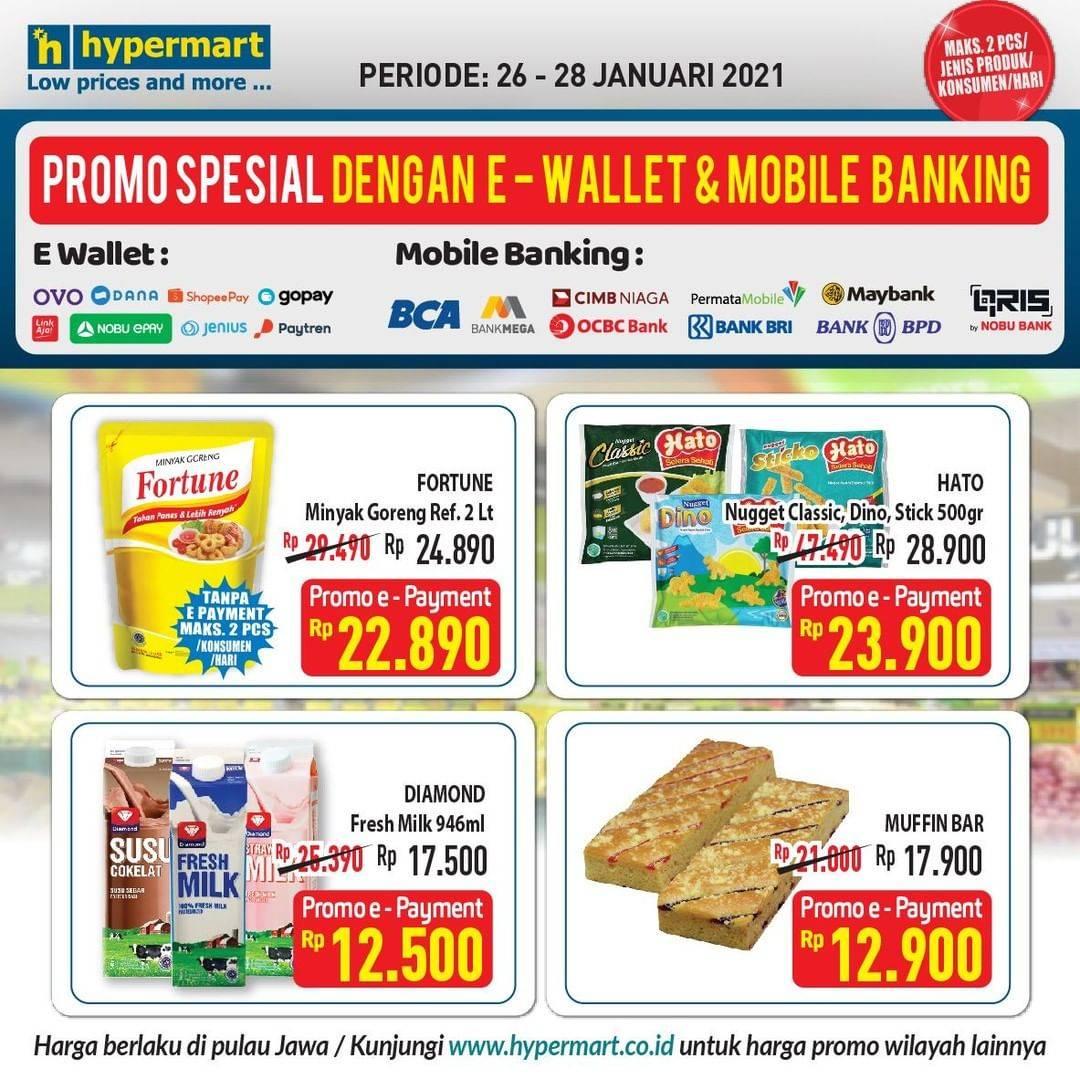 Diskon Hypermart Katalog Spesial E-Wallet & Moblie Banking