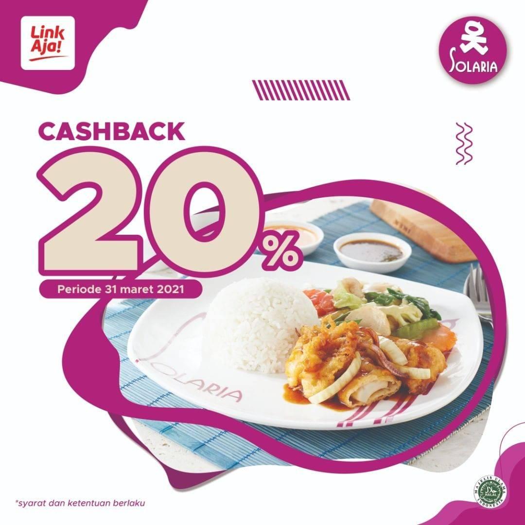 Diskon Solaria Cashback 20% Link Aja
