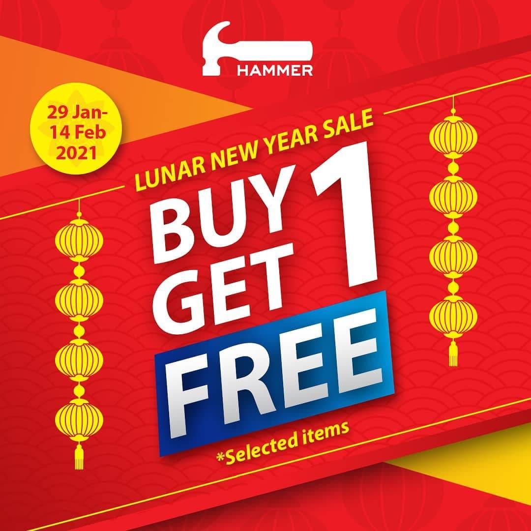 Diskon Hammer Buy 1 Get 1 Free Selected Items