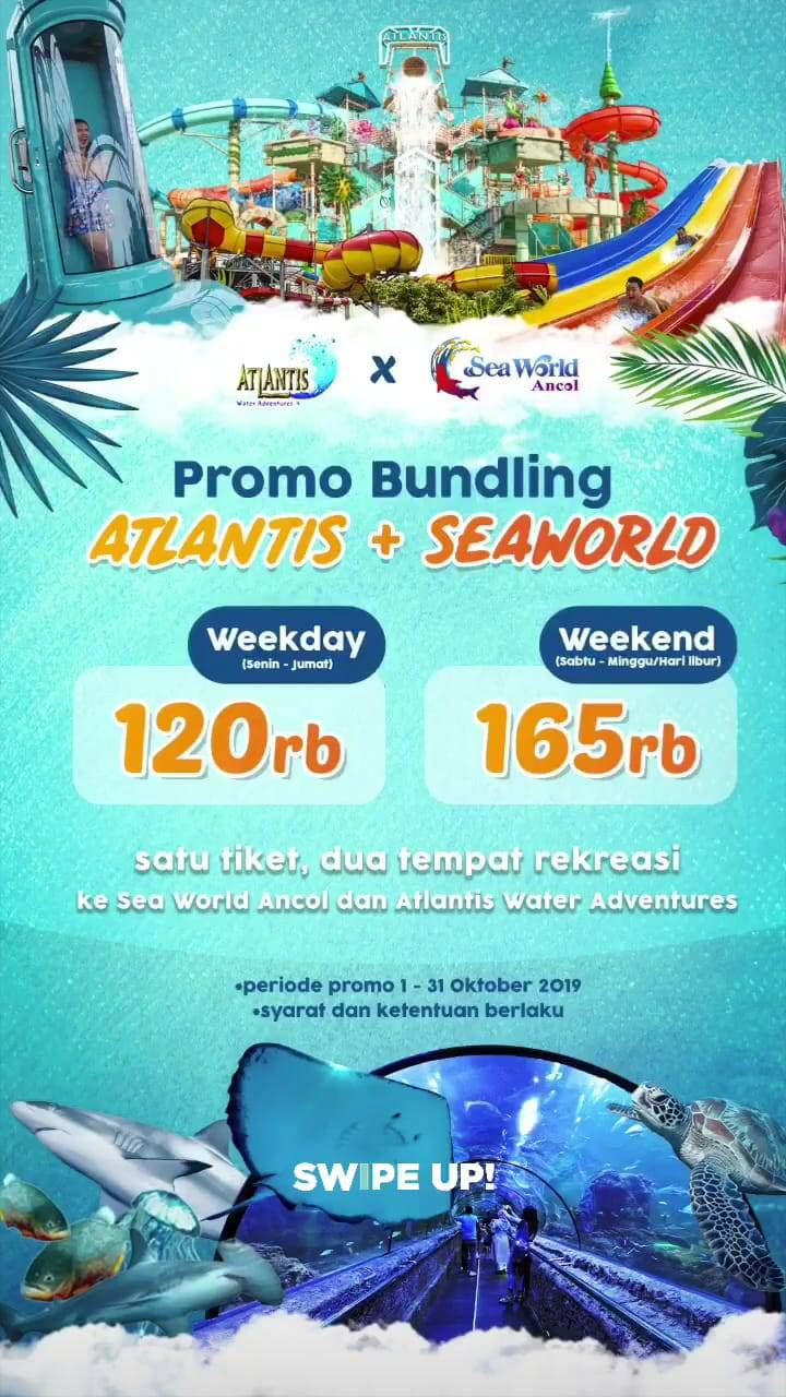 Diskon ATLANTIS Water Adventures Promo Bundling Sea World dan Atlantis