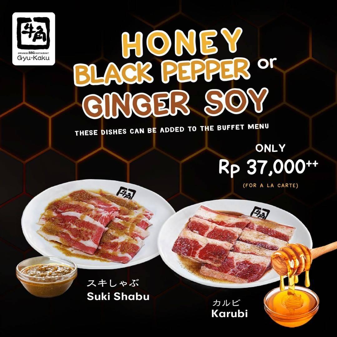 Gyukaku Promo 2 Rasa baru Honey Black Pepper Karubi dan Ginger Soy Suki Shabu