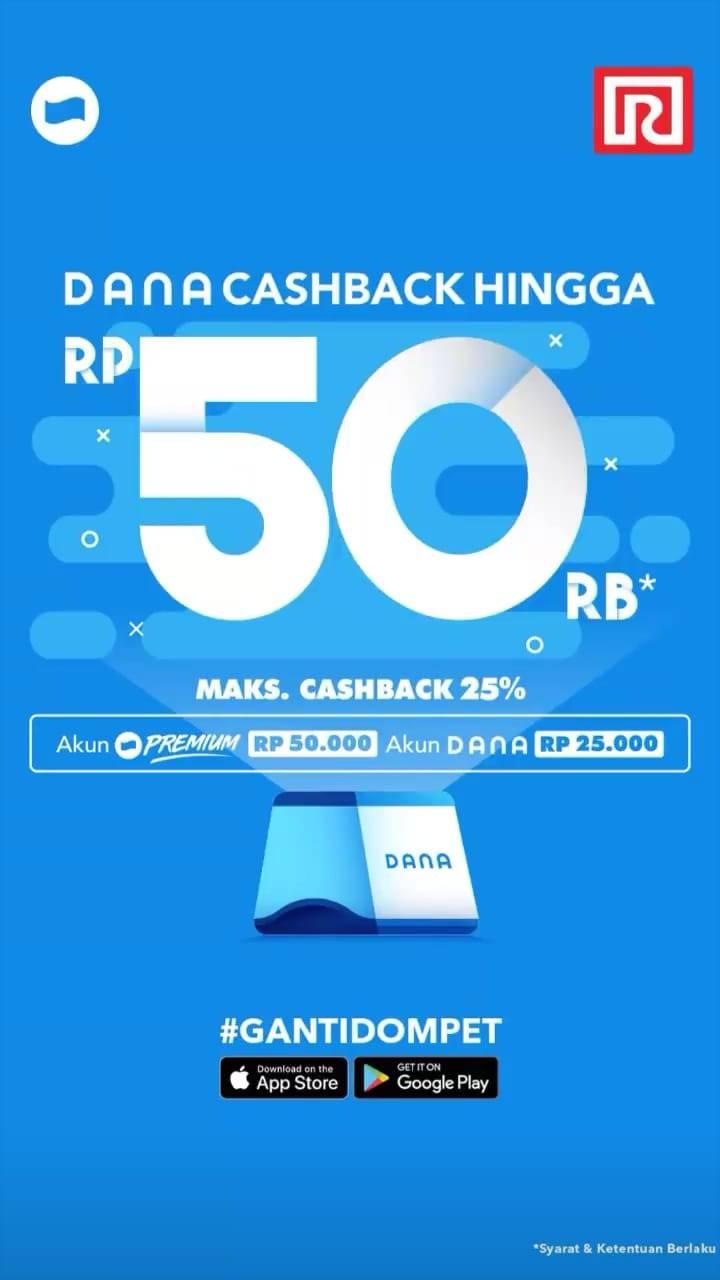 RAMAYANA Promo Cashback hingga Rp. 50.000 untuk transaksi dengan DANA