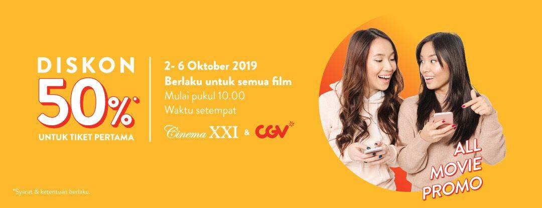 Diskon TIX ID Diskon 50% Untuk Tiket Pertama Semua Judul Film