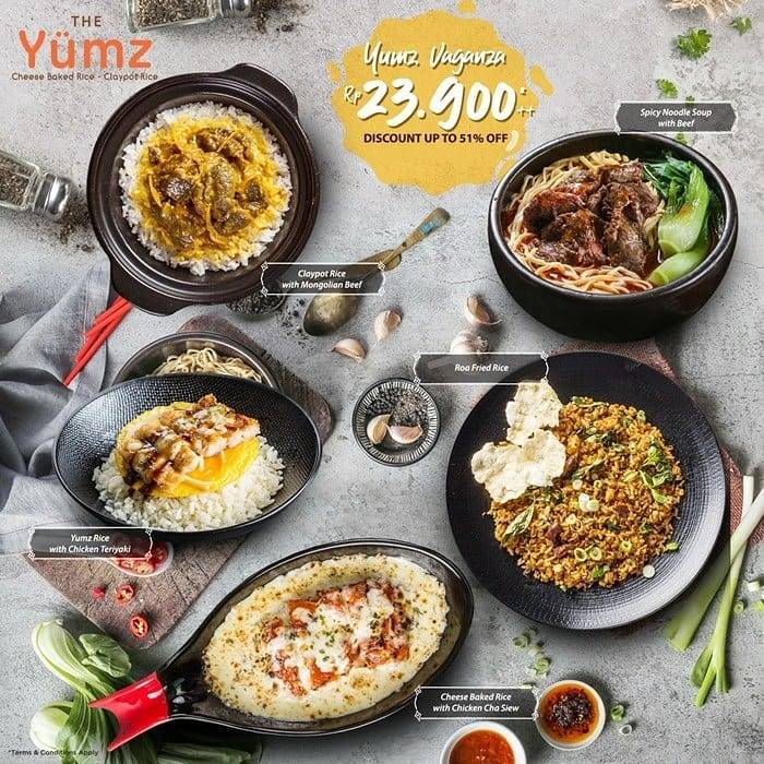 Diskon THE YUMZ Promo Yumz Vaganza! 5 Menu Pilihan hanya Rp. 23.900++