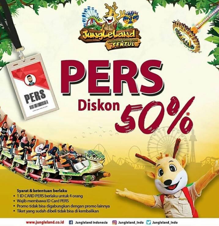 JUNGLELAND Promo DISKON 50% dengan menunjukkan ID Pers