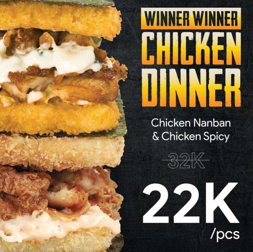 Burgushi Promo Harga Spesial Chicken Nanban dan Chicken Spicy cuma Rp. 22.000