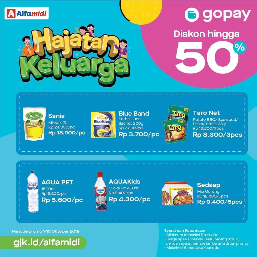 Alfamart promo Hajatan Keluarga! Belanja Pakai Gopay dapat Harga Spesial.