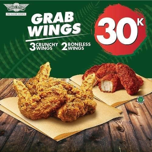 Wingstop Promo Paket Spesial Grabwings Khusus Pemesanan Via Grabfood! Harga Mulai Rp. 30.000