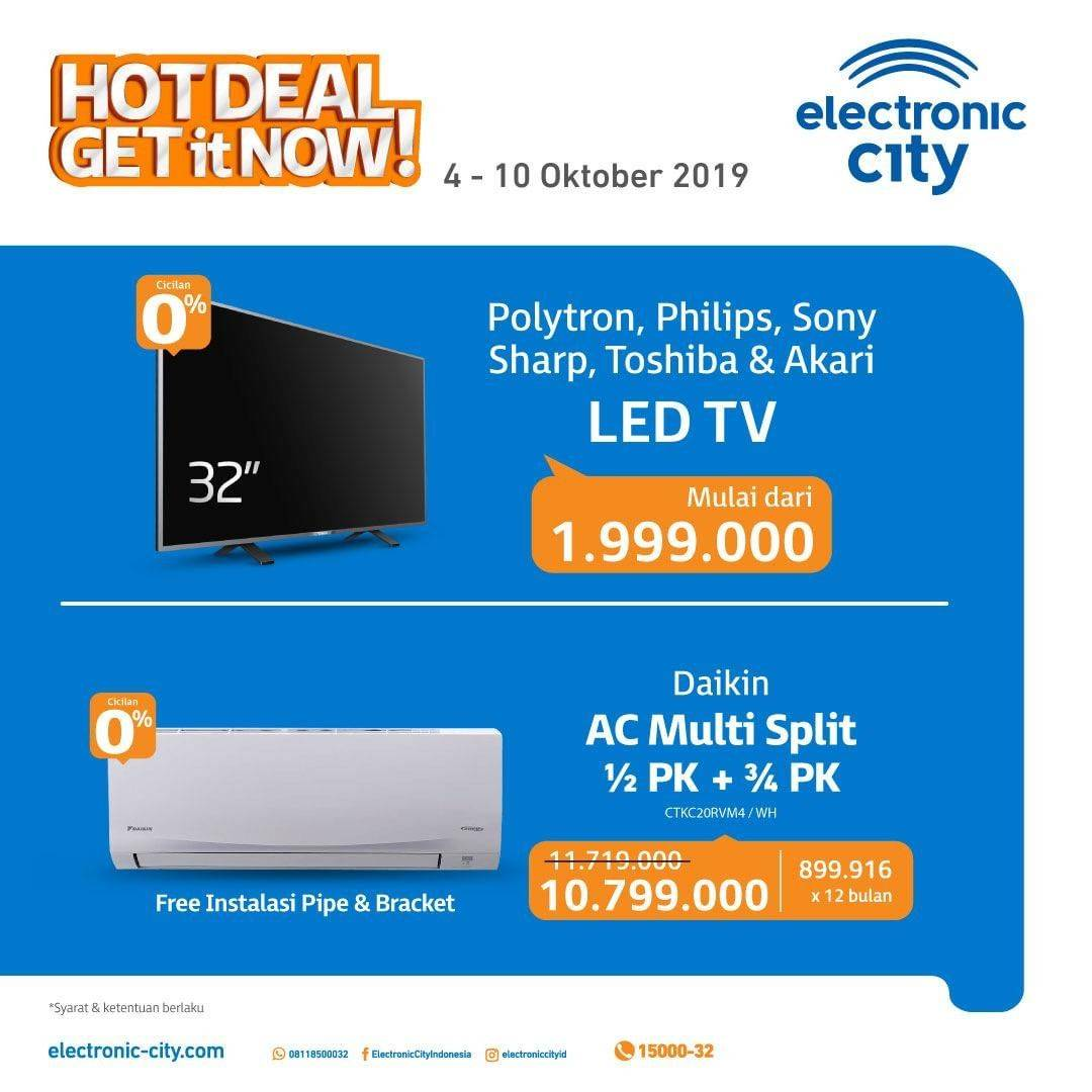 Electronic City Hot Deals periode 4-10 Oktober 2019