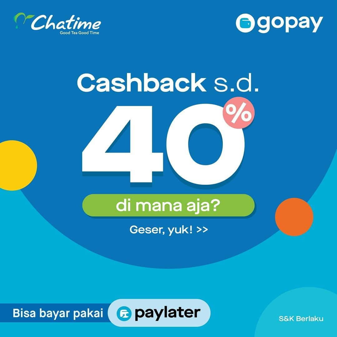 Chatime Promo Cashback hingga 40% dengan Go-Pay