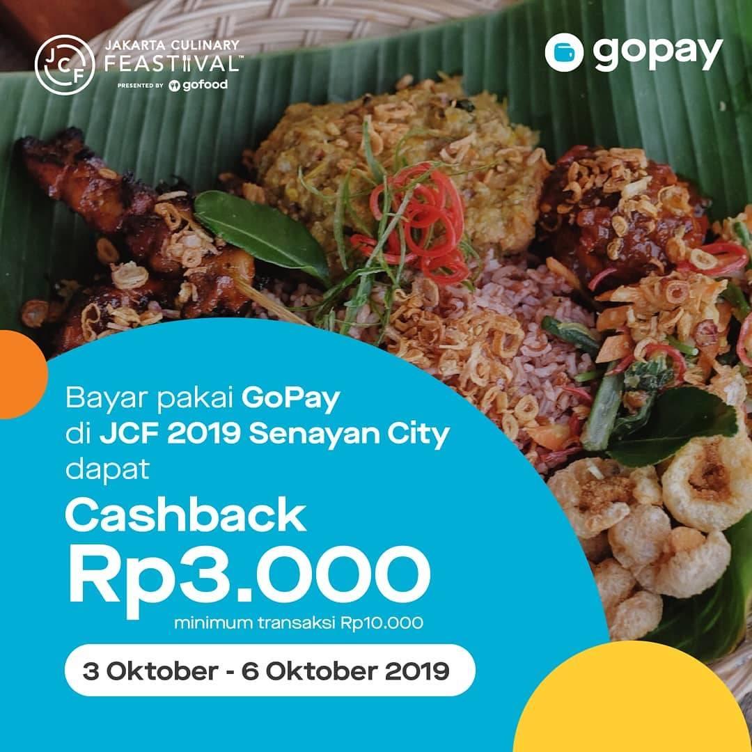 Diskon Jakarta Culinary Feastival 2019 di Senayan City! Cashback Rp. 3.000 untuk transaksi dengan Gopay