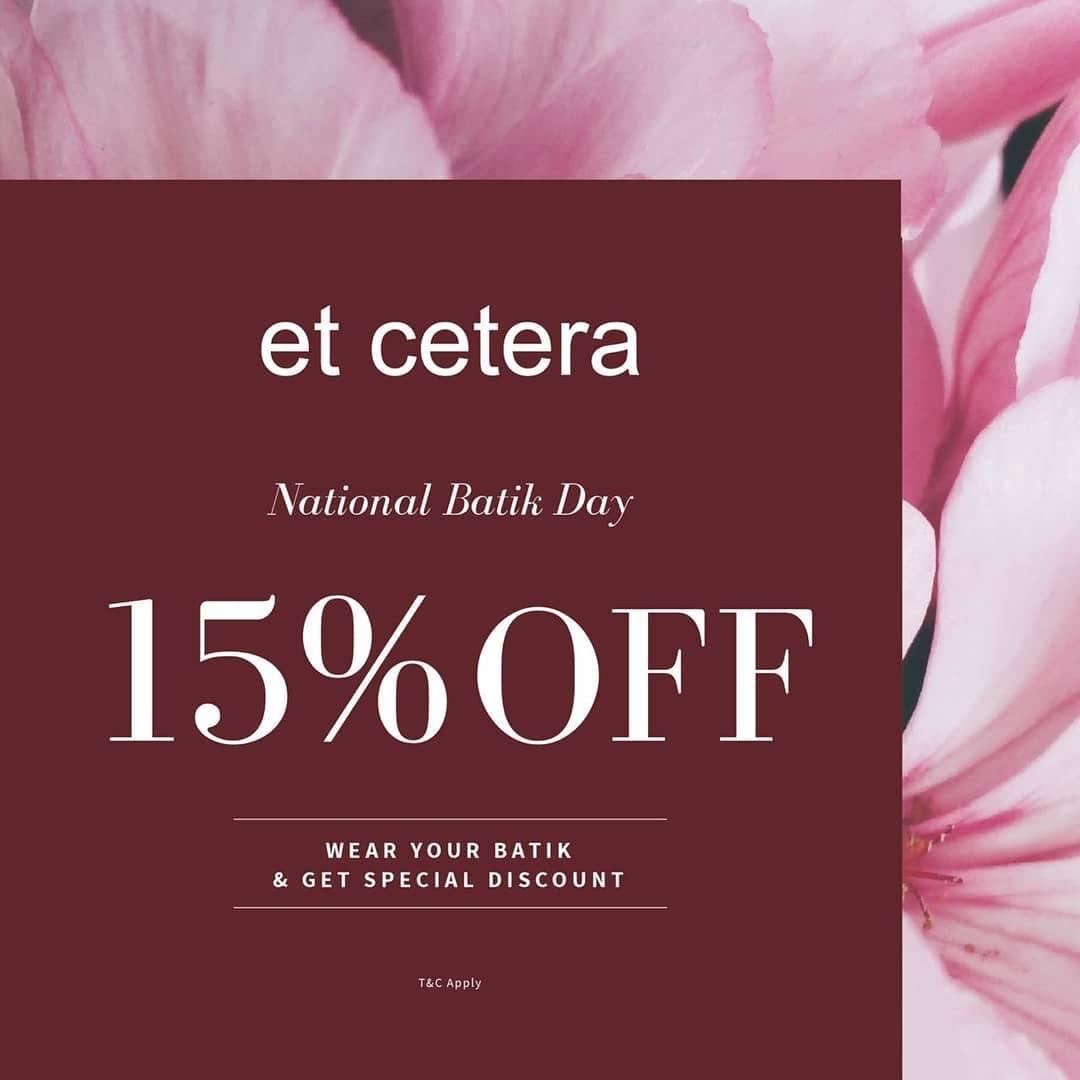 Et Cetera Promo Hari Batik Nasional