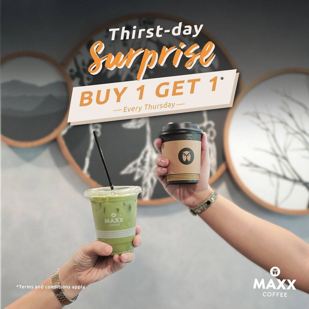 Maxx Coffee Thirst Day Surprise Buy 1 Get 1 Berlaku Setiap Hari Kamis