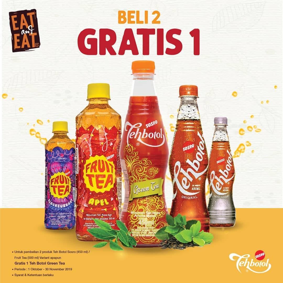Diskon Eat and Eat Promo Beli 2 Produk Sosro All Variant Gratis 1 Teh Botol Green Tea 450ml