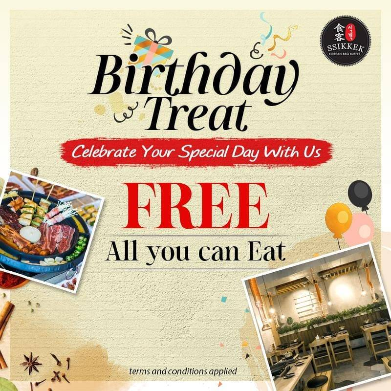 Ssikek Birthday Promo! Free All You Can Eat khusus Customer Yang Berulang Tahun