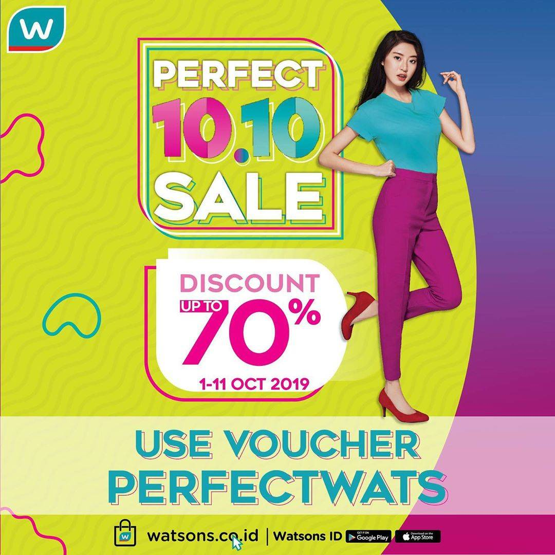 Diskon Watsons Perfect 10.10 Sale – Discount Up To 70% Off