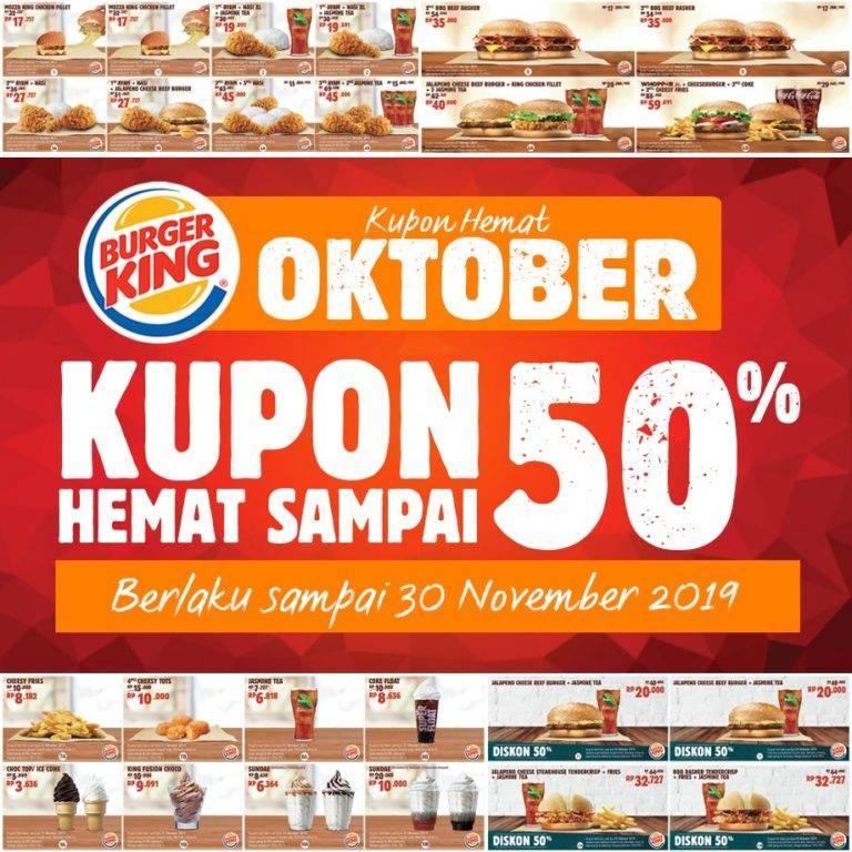 Diskon Burger King Promo Kupon Hemat Spesial Oktober 2019 Diskon Hingga 50%