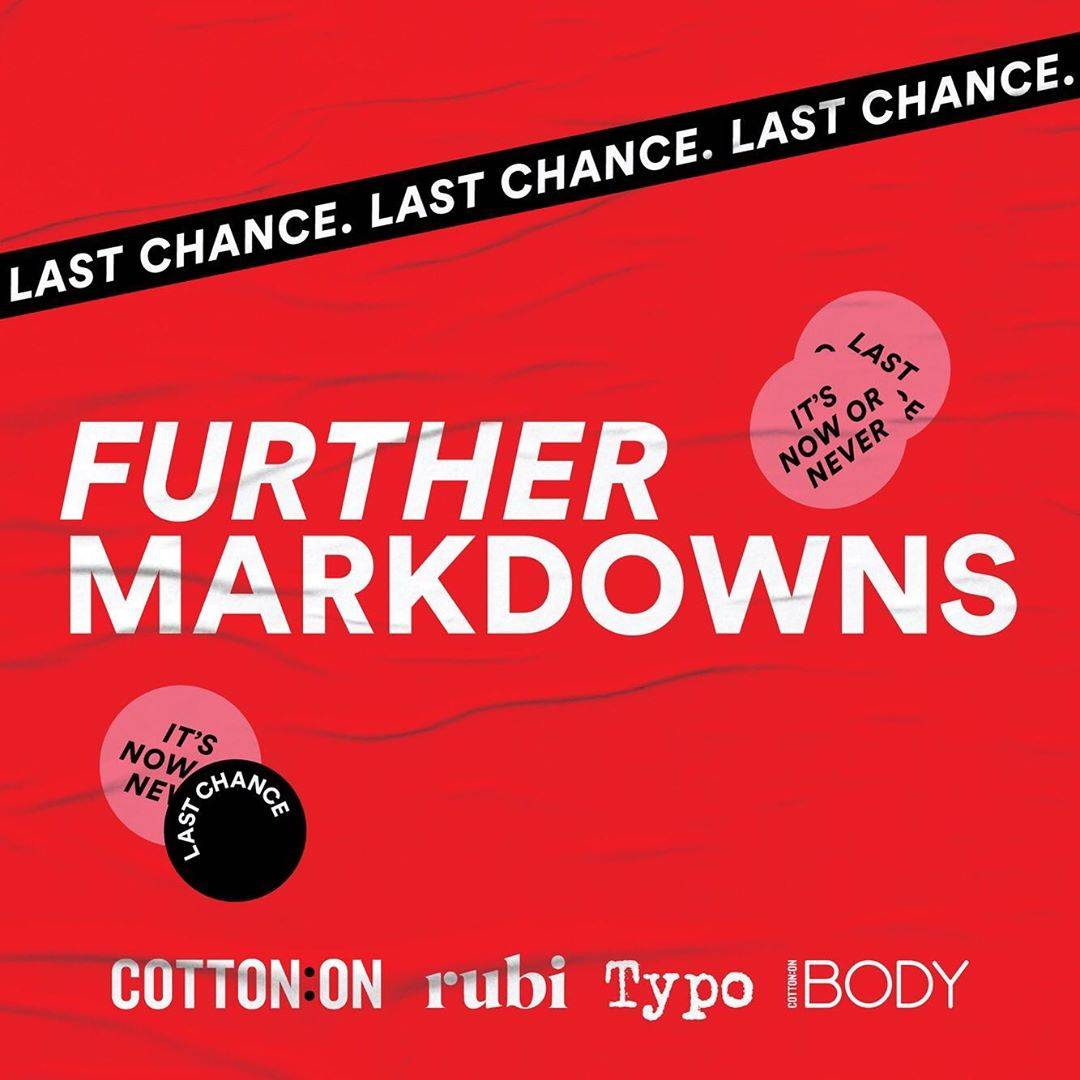 Cotton On Further Markdowns Up To 70% Off