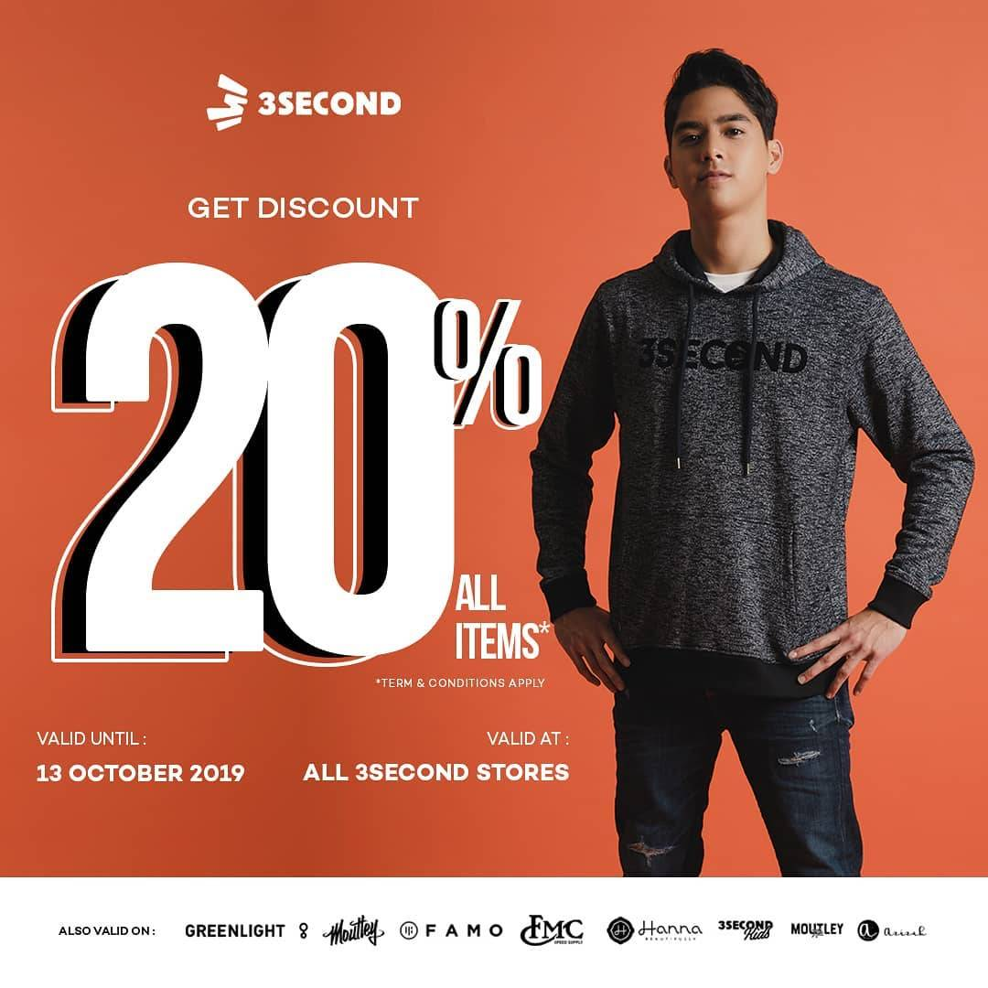 3Second Promo Discount 20% All Items