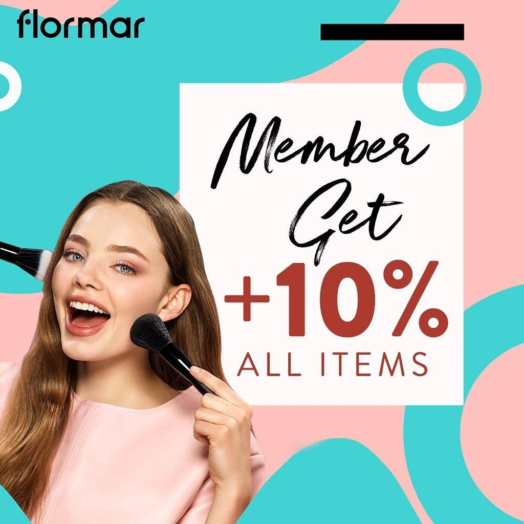 Flormar Promo Best Seller 20% + Member Get 10% Discount All Items