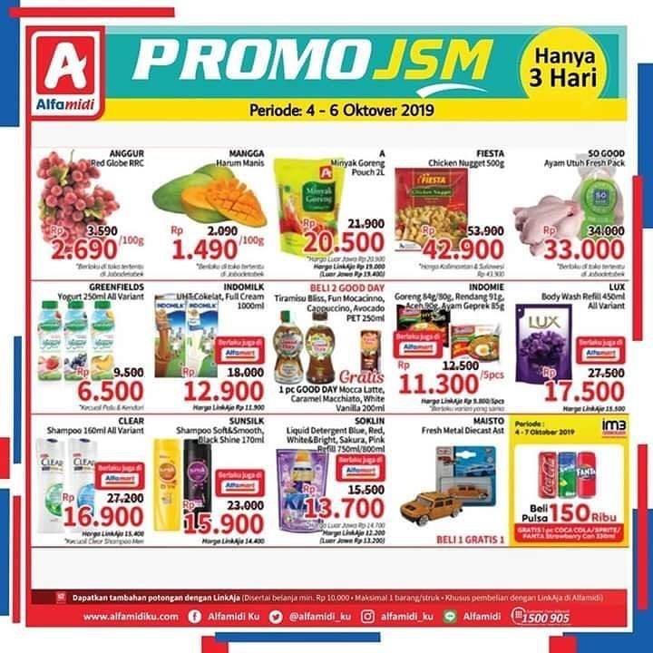 Katalog Alfamidi JSM Promo Weekend Periode 4-6 Oktober 2019