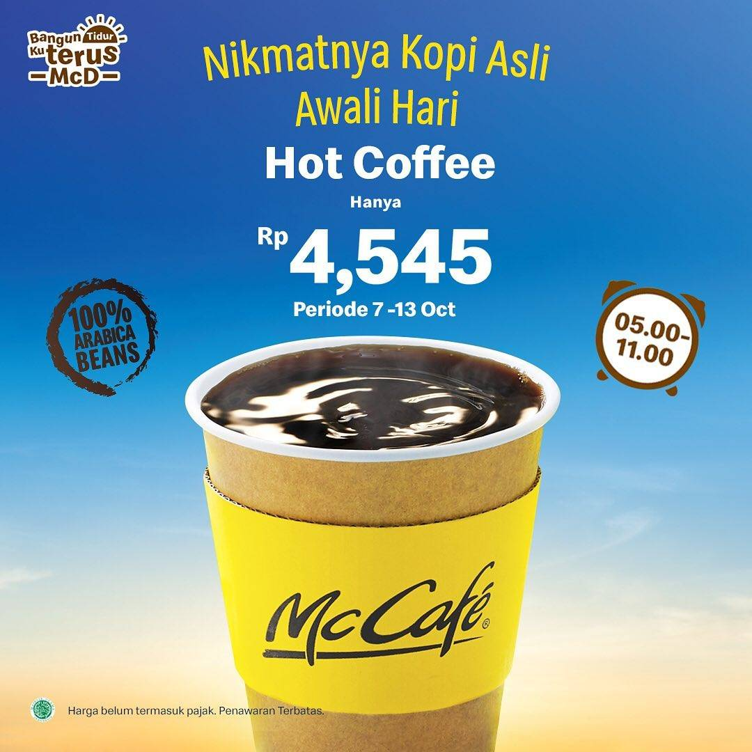 Mcdonalds Promo Harga Spesial Untuk Hot Coffee Hanya Rp. 4.545 Saja