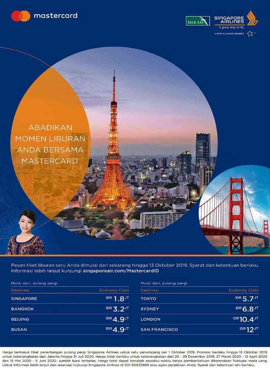 Diskon Singapore Airlines Promo Rp.1,8 Juta PP Terbang ke Singapura dan Destinasi Lainnya.