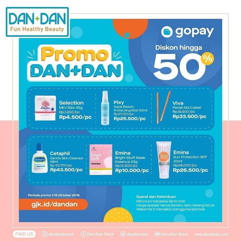 Dan+Dan Store Promo Harga Spesial Khusus Transaksi Dengan Go-Pay