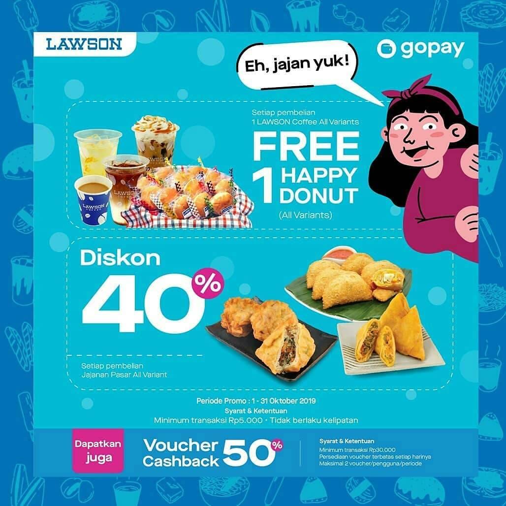 Lawson Promo Harga Spesial dan Cashback Voucher 50% Untuk Transaksi Dengan GoPay