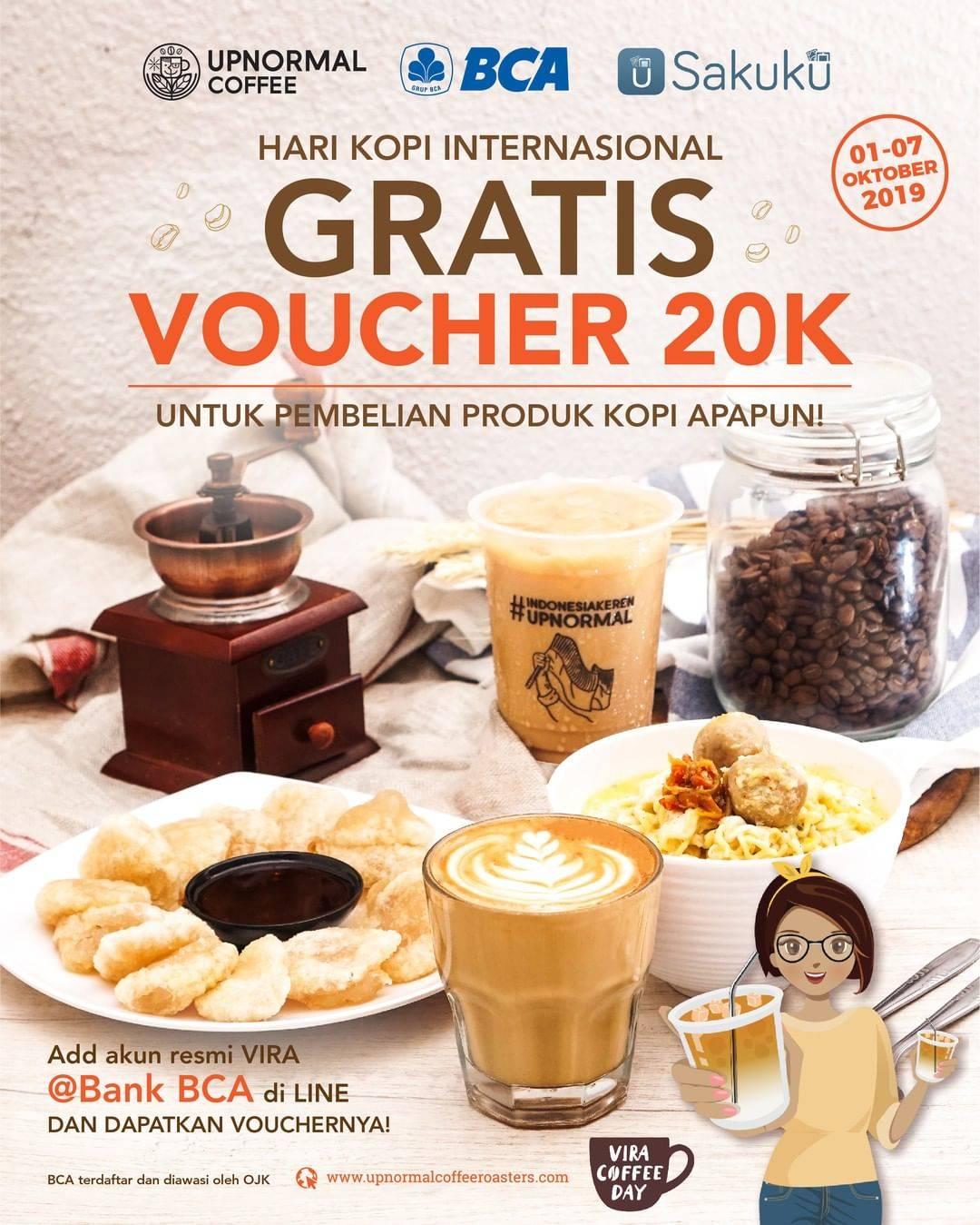 Warunk Upnormal Promo Gratis Voucher Rp. 20.000 Untuk Kamu Pengguna BCA dan Sakuku