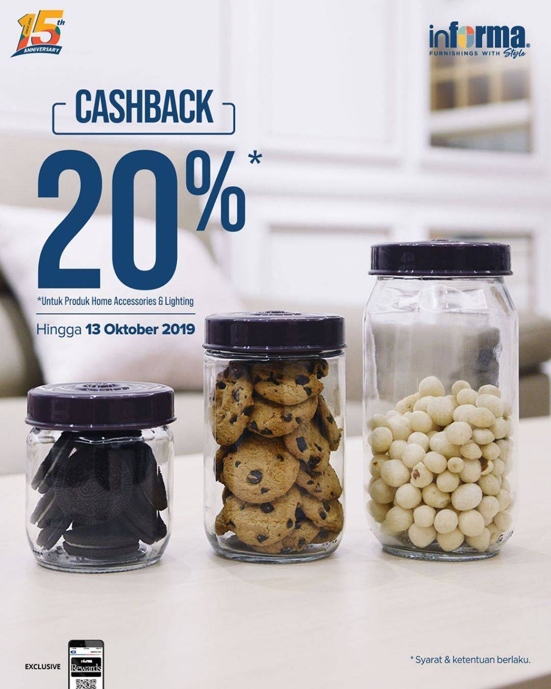 Informa Promo Cashback 20% Untuk Produk Home Accessories & Lighting