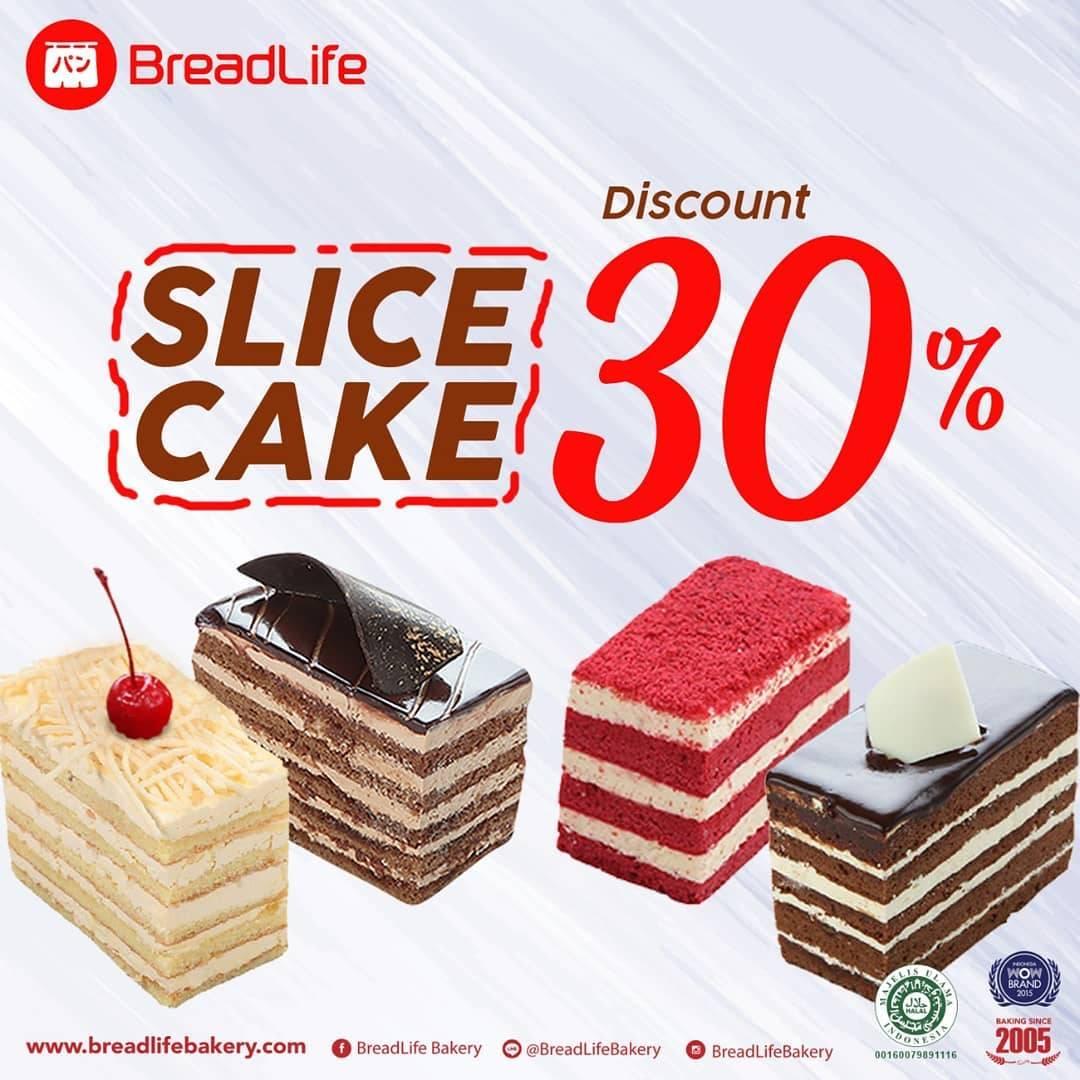 Diskon Breadlife Promo Diskon 30% Untuk Produk Slice Cake Dengan Kupon Line