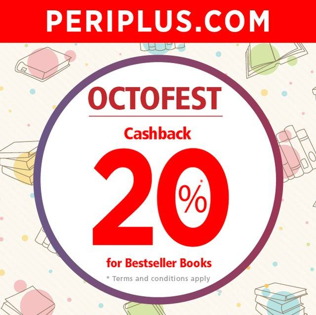 Periplus Octofest Cashback 20% For Bestseller Books