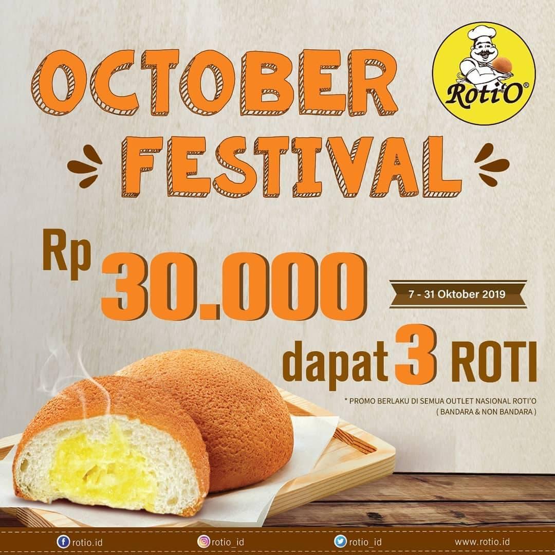 Roti O Promo October Festival Rp 30.000 Dapat 3 Roti
