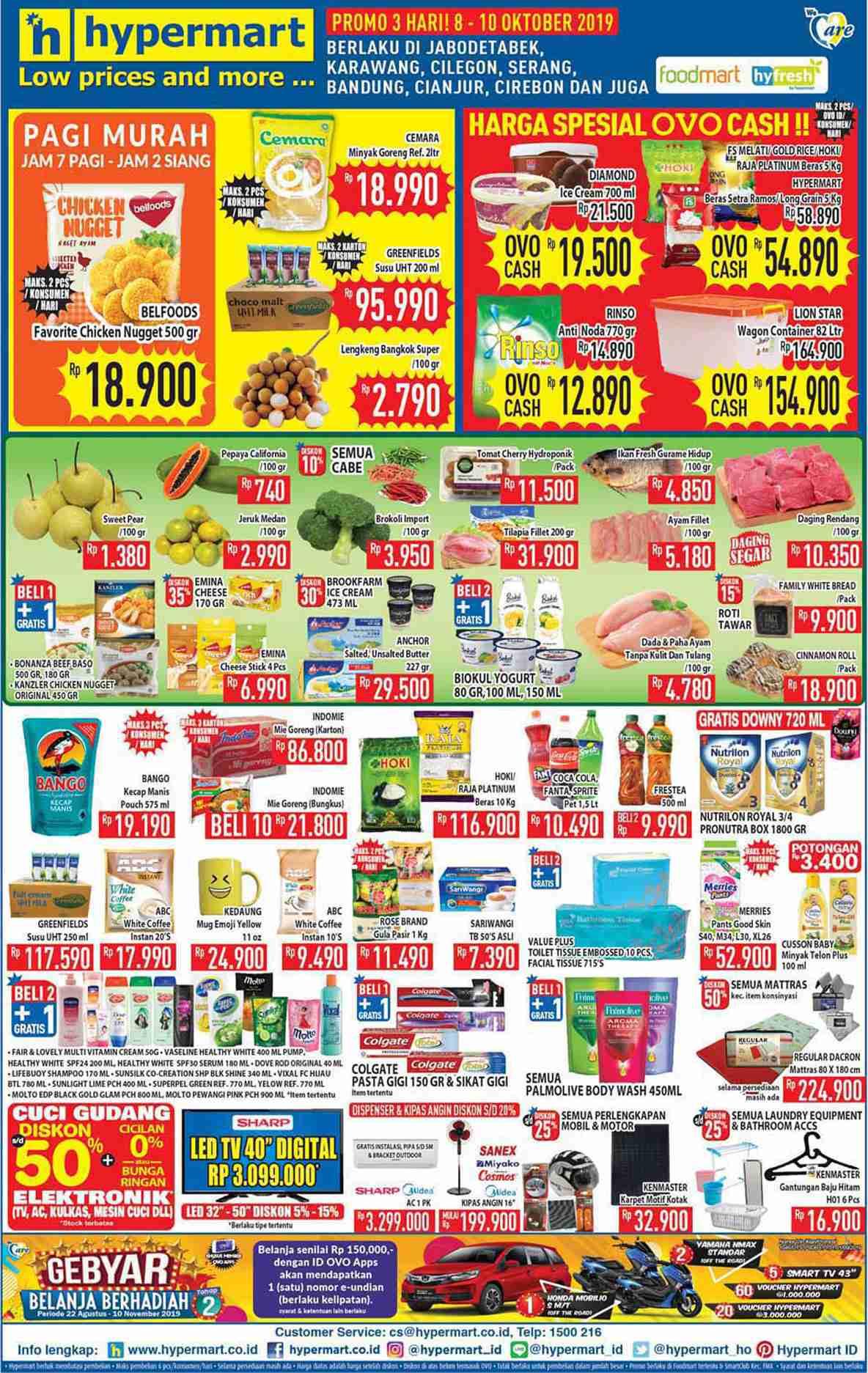 Hypermart Katalog Belanja Dan Promosi Periode 8-10 Oktober 2019