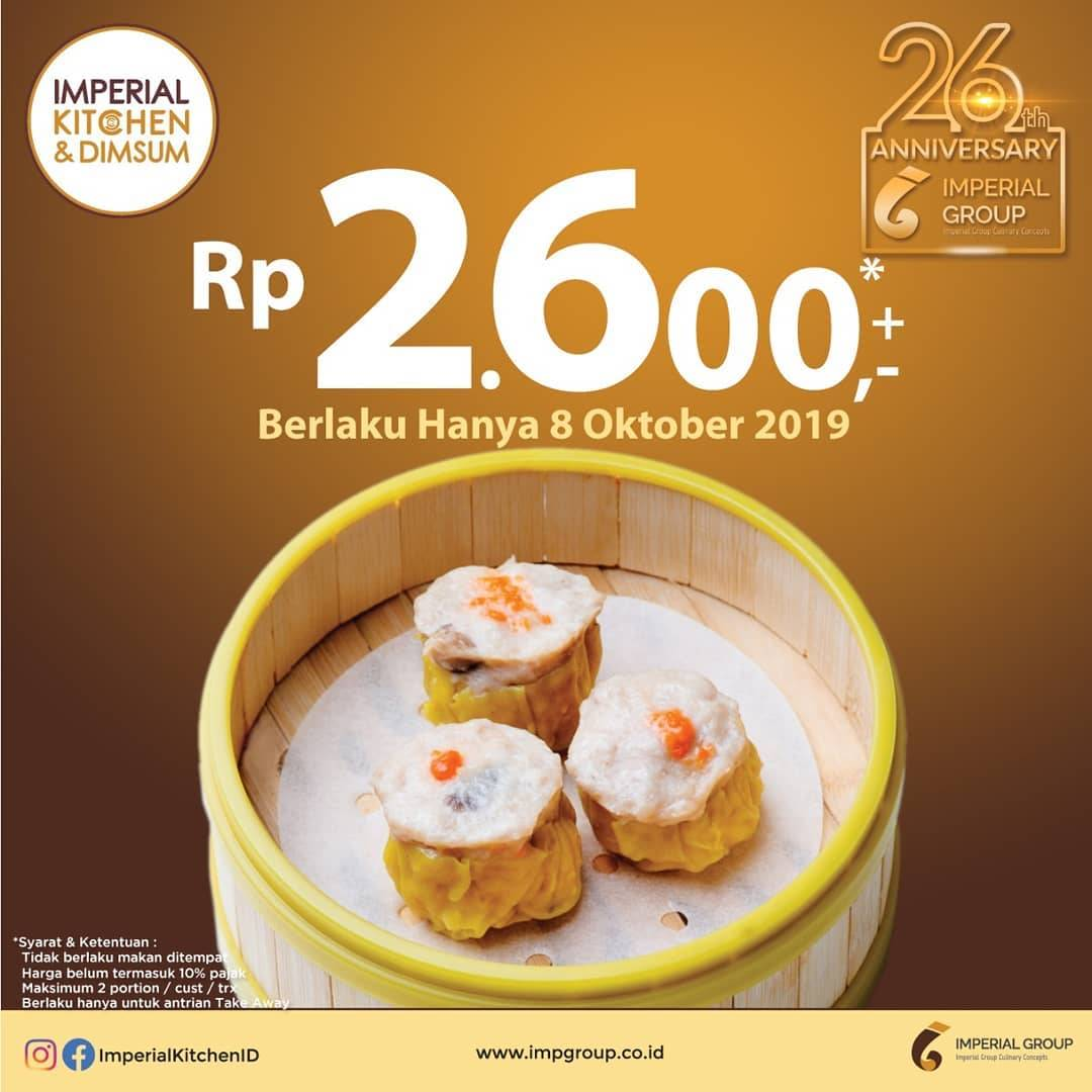 Diskon Imperial Kitchen And Dimsum Promo Harga Spesial Untuk Siew Mai Hanya Rp 2.600 Per porsi