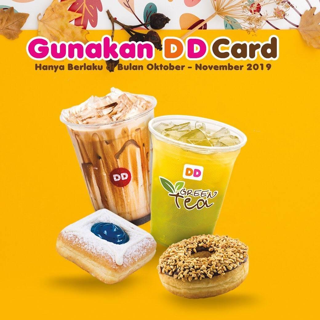 Dunkin Donuts Promo Spesial DD Card Khusus Hari Senin dan Selasa