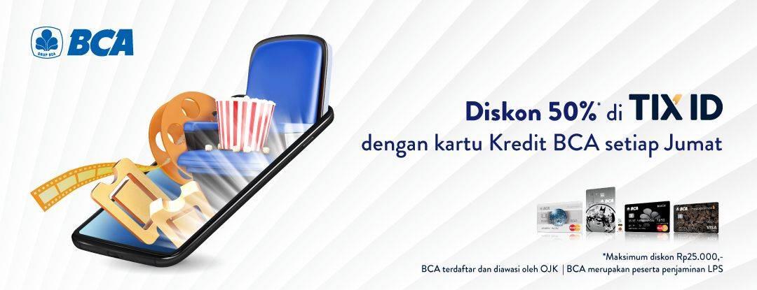 TIX ID Promo Diskon 50% Pakai Kartu Kredit BCA Setiap Hari Jumat
