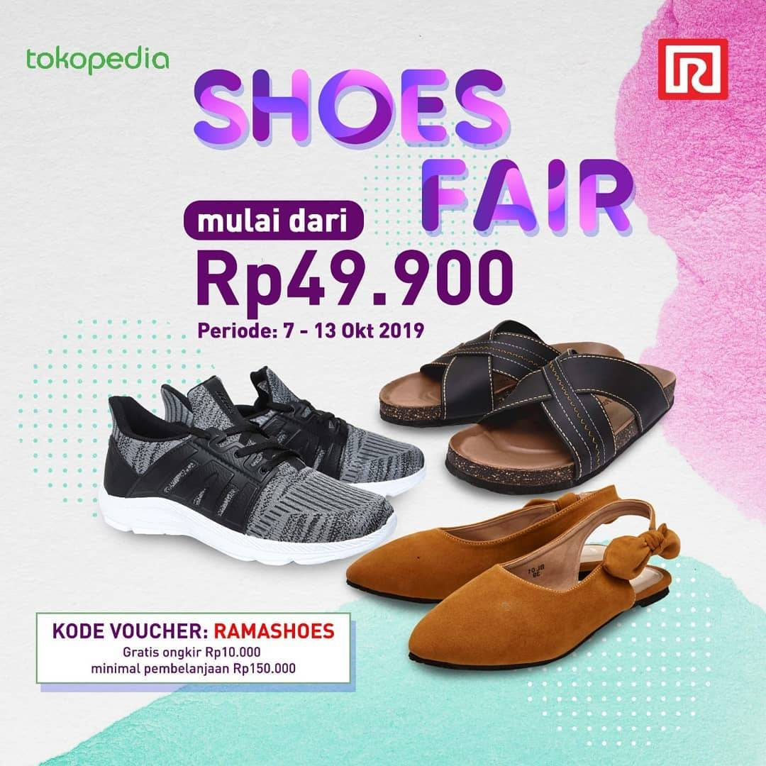 Diskon Ramayana Department Store Promo Tokepedia Shoes Fair, Harga Spesial Mulai Rp. 49.900